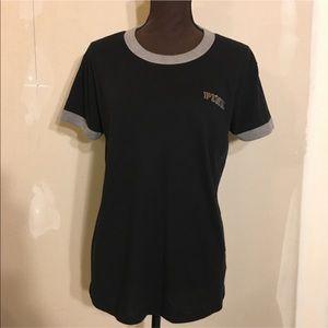VS Pink Bling Ringer T-shirt M